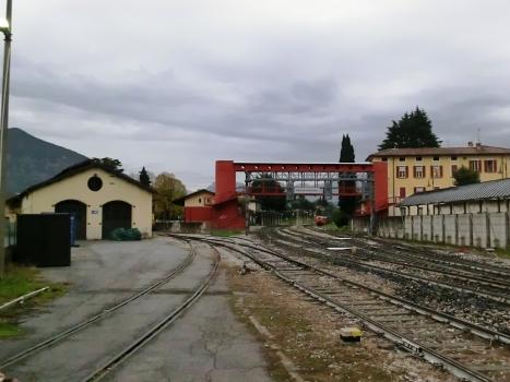 Passerelle de la gare d'Iseo