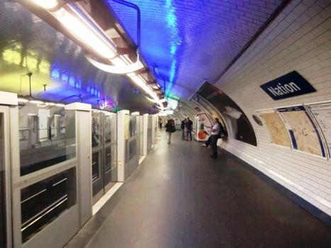 Nation Metro Station, line 1 platform