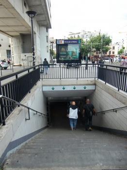 Metrobahnhof Porte de la Villette