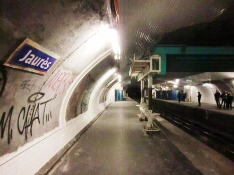 Metrobahnhof Jaurès