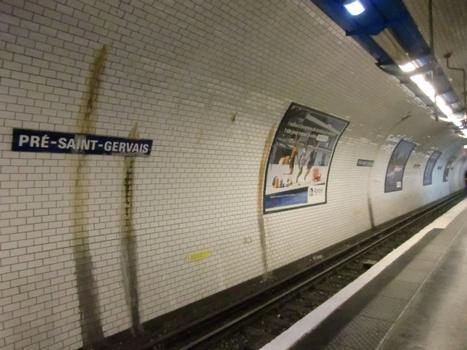 Station de métro Pré Saint-Gervais