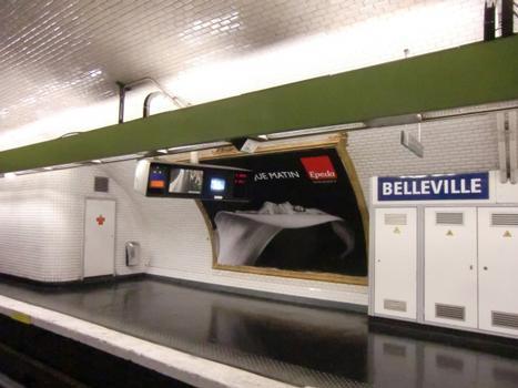 Belleville Metro Station, line 11 platform