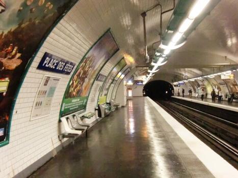 Station de métro Place des Fêtes