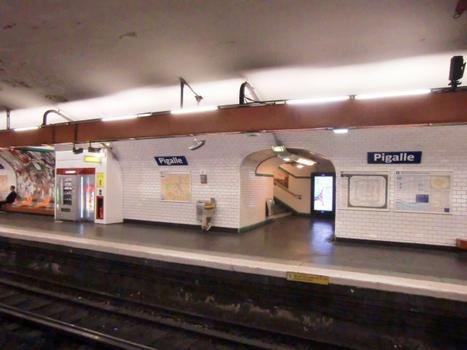 Pigalle metro station, line 12 platform