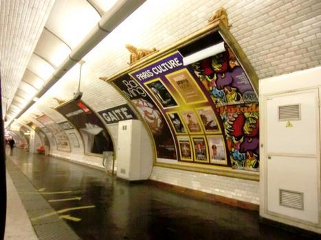 Metrobahnhof Gaîté