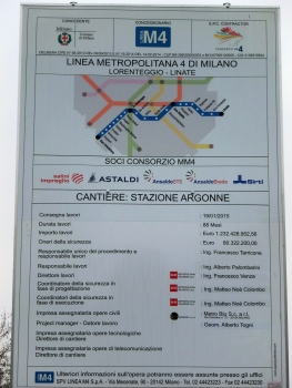 Argonne Metro Station site info panel