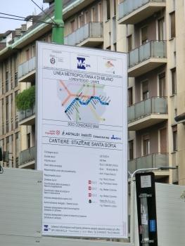 Santa Sofia Metro Station site panel