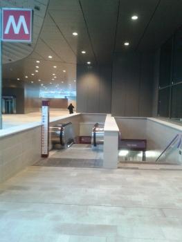 Tre Torri Metro Station, access