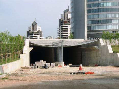 Giovanni Gattamelata Tunnel, northern portals, under construction