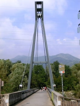Nembro Footbridge across Serio river
