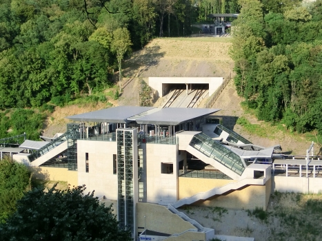 Pfaffenthal-Kirchberg Funicular and Railway Station