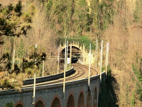 Ambra Tunnel southern portal at the end of Bucine Viaduct