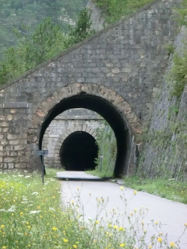 Artificiale n°10 Tunnel and, in the back, Ponteperaria II Tunnel northern portals
