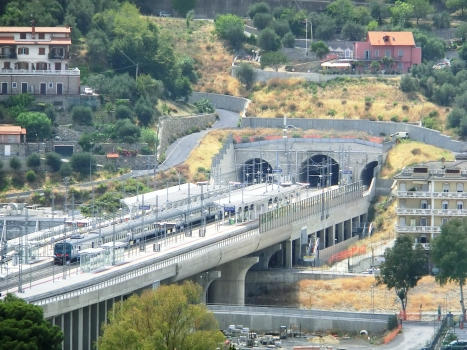 Bardellini Tunnel and Imperia station, on Impero bridge