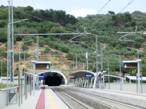 Caighei Tunnel western portal and Diano Station
