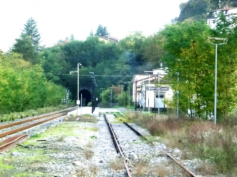 Camporgiano Station and Camporgiano Tunnel northern portal