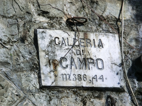 Campo Tunnel southern portal plate