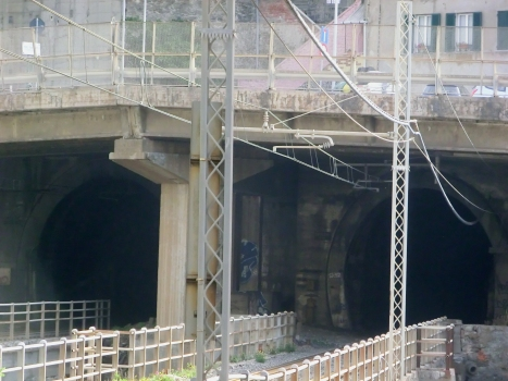 Cappuccini North Tunnel (on the left) and Cappuccini South Tunnel western portals