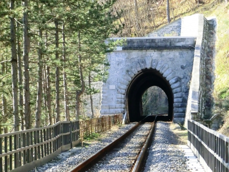 Castagno Tunnel eastern portal