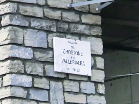 Crostone-Valle Rialba Tunnel southern portal plate