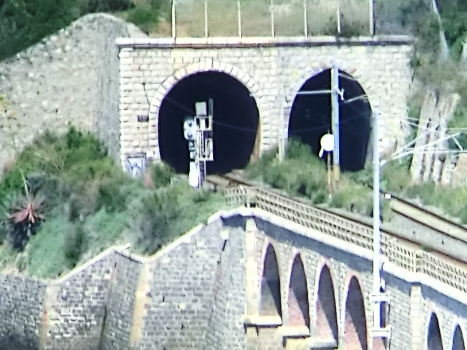 De Mari South Tunnel (on the left) and De Mari North Tunnel eastern portals