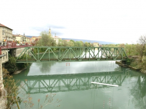 Dora Baltea Railway Bridge and, on the left side, Ivrea Tunnel southern portal
