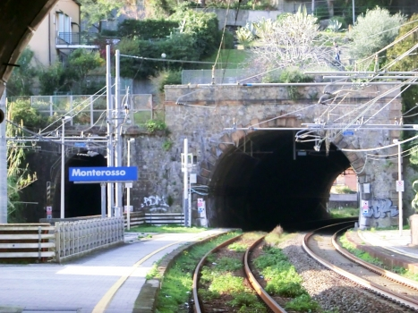 Fegina north Tunnel (on the right) and Fegina south Tunnel eastern portals