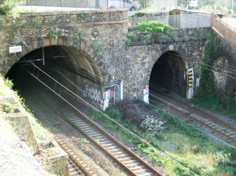 Fegina north Tunnel (on the left) and Fegina south Tunnel western portals
