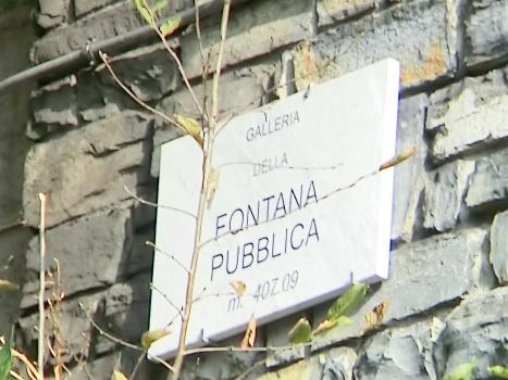 Fontana Pubblica Tunnel southern portal plate