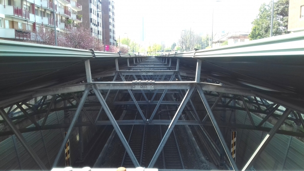 Mirabello Tunnel noise reduction section