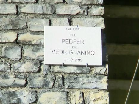 Pedfer-Vedrignanino Tunnel southern portal plate