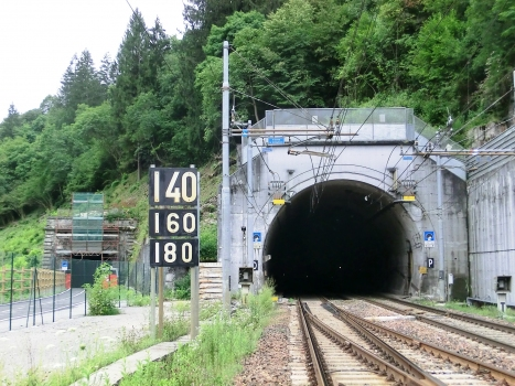 San Rocco Tunnel northern portal (on the left) and Le Piche-San Rocco Tunnel eastern portal