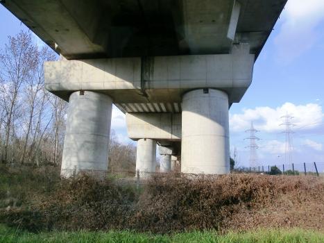 Eisenbahnbrücke Borgo Mantovano e Ostiglia