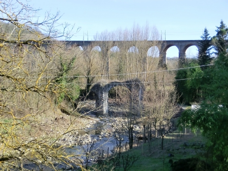 Bucine Viaduct and Bucine roman bridge ruins