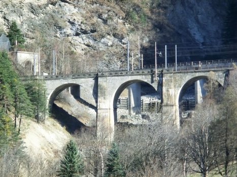Aquila Bridge and, on the left, Exilles South Tunnel western portal