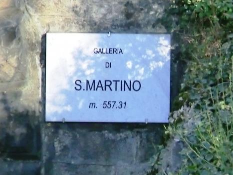 San Martino Tunnel western portal plate