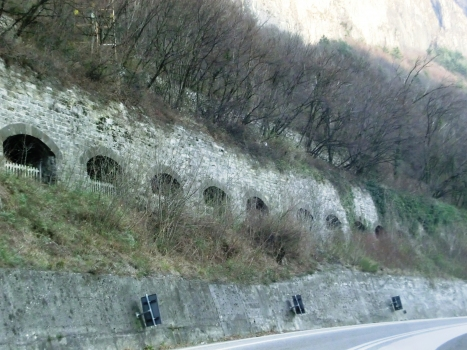 Santo Stefano Tunnel windowed section