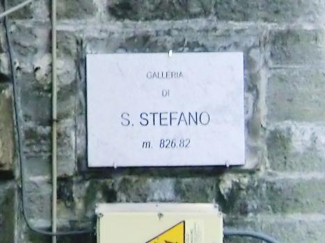 Santo Stefano Tunnel northern portal plate