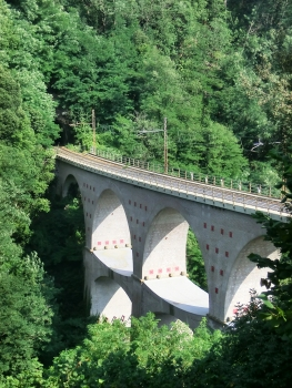 Biscaccia Tunnel western portal at the end of Ceresolo Viaduct