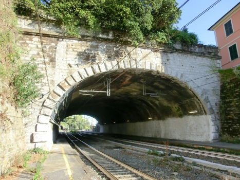 Zoagli Tunnel northern portal