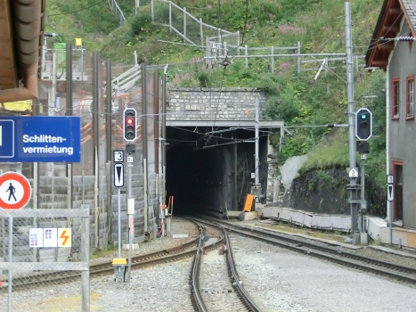 Albula Tunnel northern portal