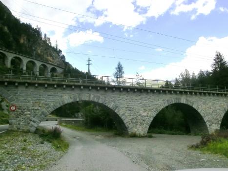 Albula I Viaduct and, on the left, Rugnux Viaduct
