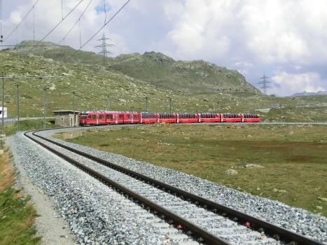 Bernina Line at Lej Nair