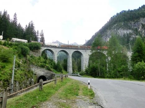 Toua Tunnel northern portal and Albula III Viaduct