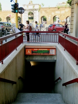S.Giovanni Metro Station access