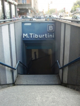 Monti Tiburtini Metro Station, access