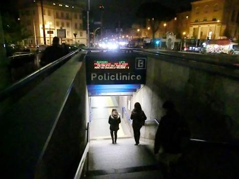 Policlinico Metro Station access