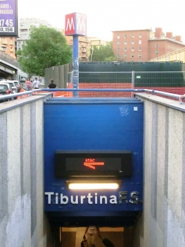 Metrobahnhof Tiburtina F.S.