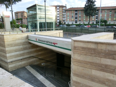 Alessandrino Metro Station access and lift