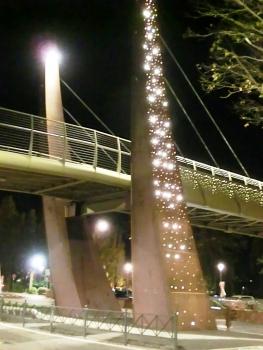 Geh- und Radwegbrücke über die Via Roma